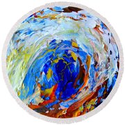 Round Beach Towel featuring the painting Surge 1 by Fred Wilson