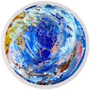 Round Beach Towel featuring the painting Surge 2  by Fred Wilson