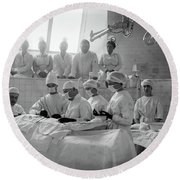 Round Beach Towel featuring the photograph Surgery Theater C. 1917 by Daniel Hagerman