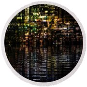 Surreal Evening Round Beach Towel