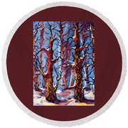 Surreal Forest Round Beach Towel by Megan Walsh