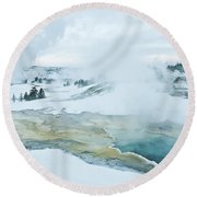 Surreal Landscape Round Beach Towel