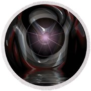 Surreal Reflections Round Beach Towel