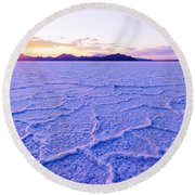 Surreal Salt Round Beach Towel