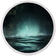 Surreal Sea Round Beach Towel