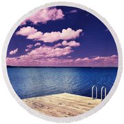 Surreal Solace Round Beach Towel