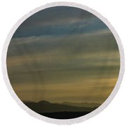 Surreal Sunset Round Beach Towel