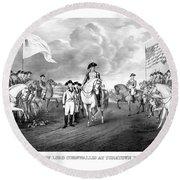 Surrender Of Lord Cornwallis At Yorktown Round Beach Towel