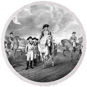 Surrender Of Lord Cornwallis At Yorktown Round Beach Towel by War Is Hell Store