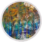 Round Beach Towel featuring the photograph Surrender To The Light by Claire Bull