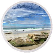 Round Beach Towel featuring the photograph Surrounded By Beauty by Peter Tellone