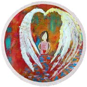 Surrounded By Love Round Beach Towel
