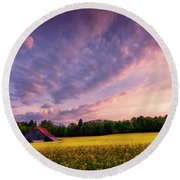 Surrounded Round Beach Towel