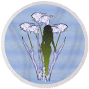 Susan -02 Round Beach Towel