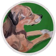Sushi Date With Paint Jan 22 Round Beach Towel