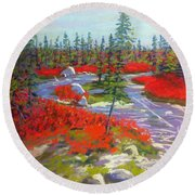 Susie Lake Barrens Round Beach Towel