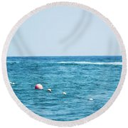Round Beach Towel featuring the photograph Suspension  by Ana Mireles