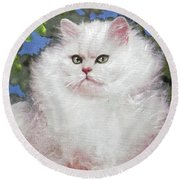 Suspicious Princess Round Beach Towel