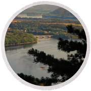 Susquehanna River Below Round Beach Towel