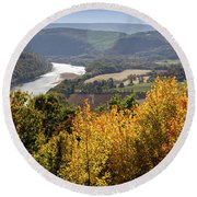 Susquehanna River  Round Beach Towel