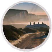 Sussex Coast Guard Cottages Round Beach Towel