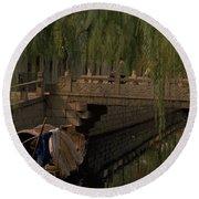 Suzhou Canals Round Beach Towel