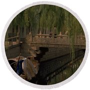 Suzhou Canals Round Beach Towel