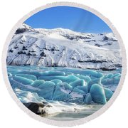 Round Beach Towel featuring the photograph Svinafellsjokull Glacier Iceland by Matthias Hauser