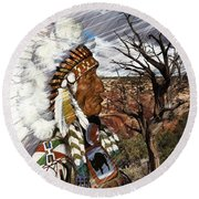 Sw Indian Round Beach Towel by Liane Wright