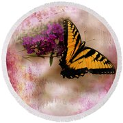 Swallow Tail Full Of Beauty Round Beach Towel