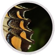 Swallowtail Butterfly Wing Round Beach Towel