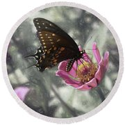 Swallowtail In A Fairytale Round Beach Towel