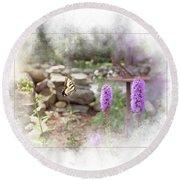 Round Beach Towel featuring the digital art Swallowtail by Sue Collura