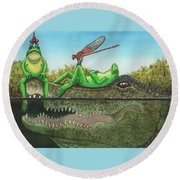 Swamp Round Beach Towel