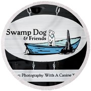 Swamp Dog And Friends Round Beach Towel