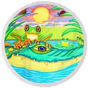 Swamp Life Round Beach Towel