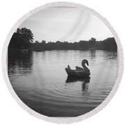 Swan Lake  Round Beach Towel