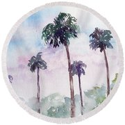 Swaying Palms Round Beach Towel