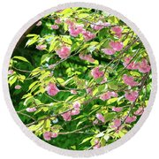 Sweeping Cherry Blossom Branches Round Beach Towel
