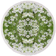 Sweet Alyssum Abstract Round Beach Towel
