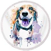 Sweet Beagle Round Beach Towel