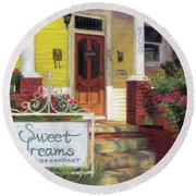 Sweet Dreams Round Beach Towel by Julie Maas