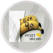 Sweet Dreams Round Beach Towel by Sheila Mcdonald