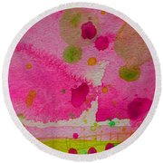 Round Beach Towel featuring the painting Sweet Dreams by Tracy Bonin
