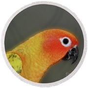 Sweet Face Round Beach Towel