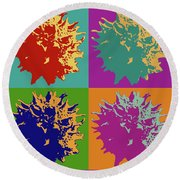 Sweet Gum Balls Round Beach Towel