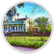 Sweet Home New Orleans - Spring Garden 2 - Paint Round Beach Towel