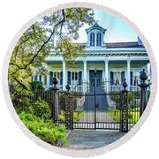 Sweet Home New Orleans - Wrought Iron Round Beach Towel