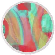 Round Beach Towel featuring the digital art Sweet Little Abstract by Susan Stone