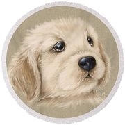 Sweet Little Dog Round Beach Towel
